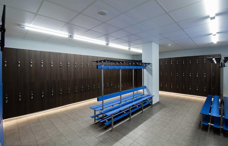 Vestuario centro deportivo delicias
